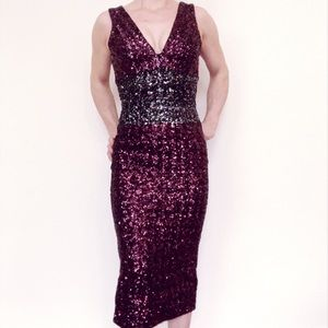 NWT Dress the Population sequined dress